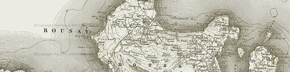 Old map of Rousay in 1912