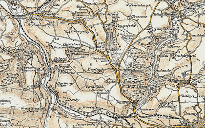Old map of Washaway in 1900