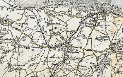 Old map of Washford in 1898-1900