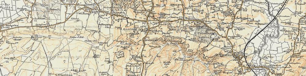 Old map of Windlesham (Sch) in 1898