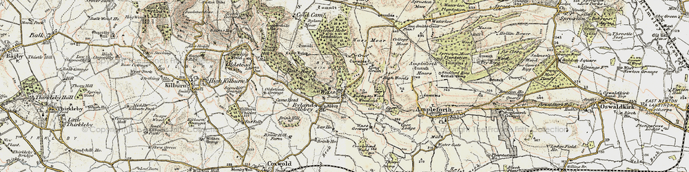 Old map of Tom Smith's Cross in 1903-1904