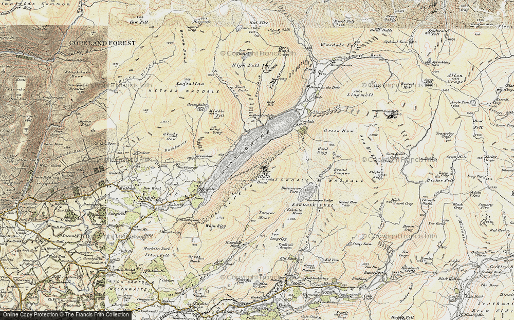 Old Map of Historic Map covering Tongue Moor in 1903-1904