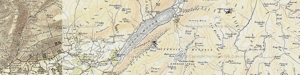 Old map of Whin Rigg in 1903-1904