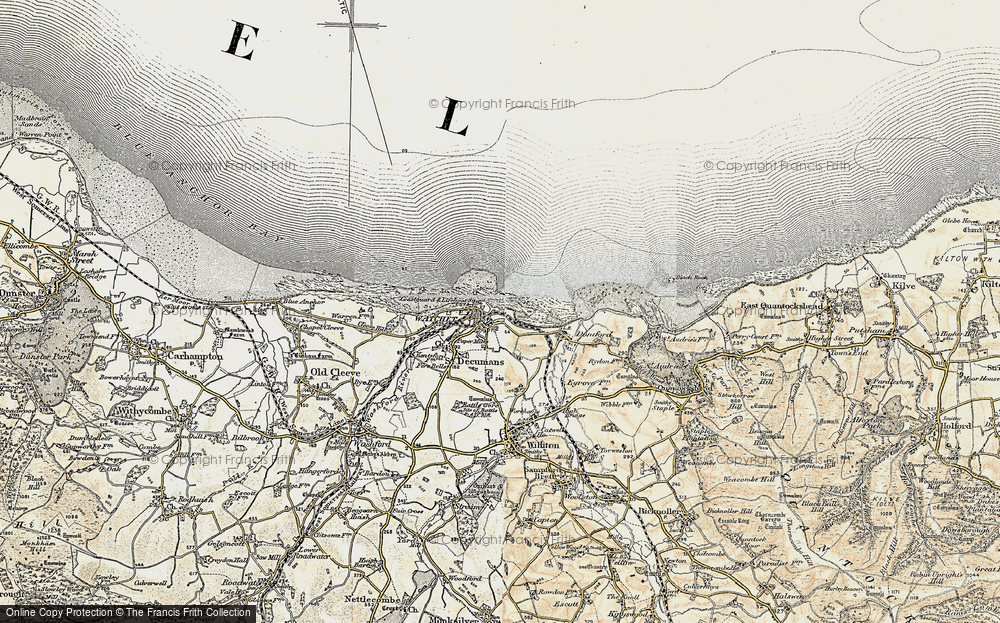 Old Map of Watchet, 1898-1900 in 1898-1900