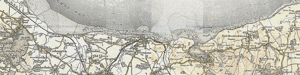 Old map of Watchet in 1898-1900