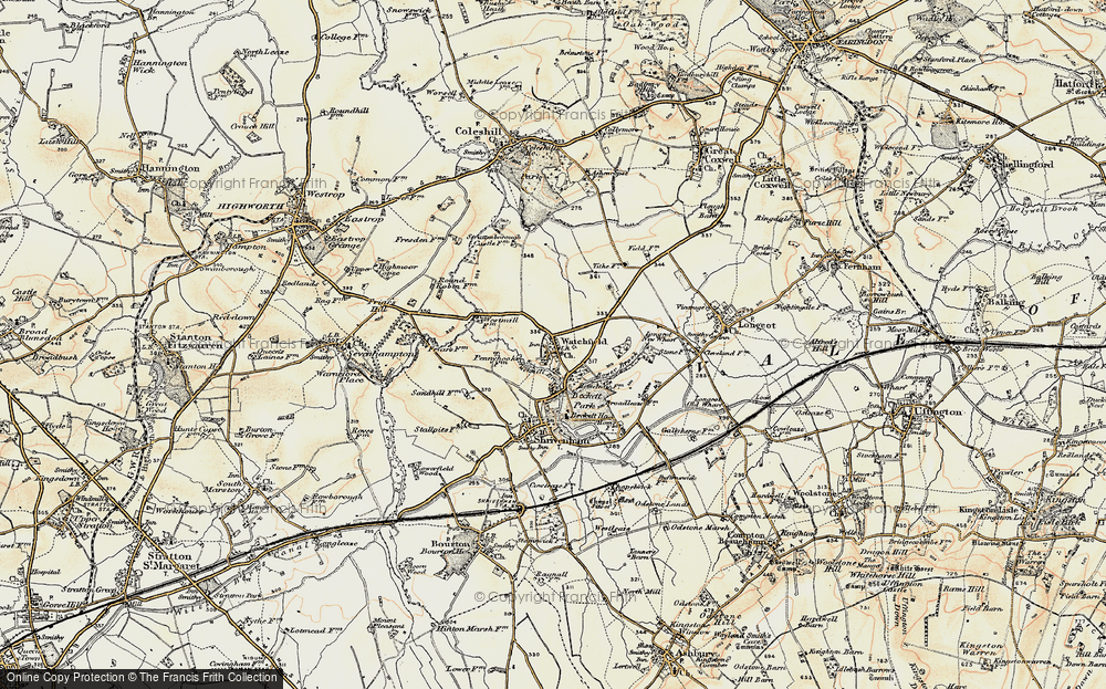 Old Map of Watchfield, 1898-1899 in 1898-1899
