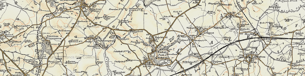 Old map of Watchfield in 1898-1899