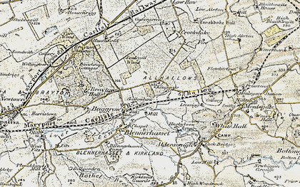 Old map of Aldersceugh in 1901-1904