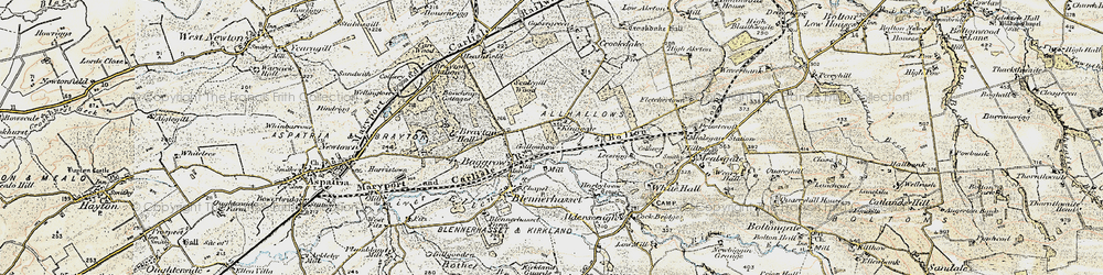 Old map of Aldersceugh in 1901-1904