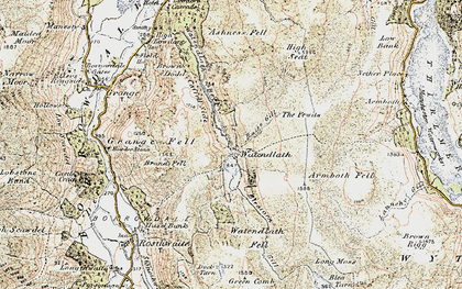 Old map of Ashness Fell in 1901-1904
