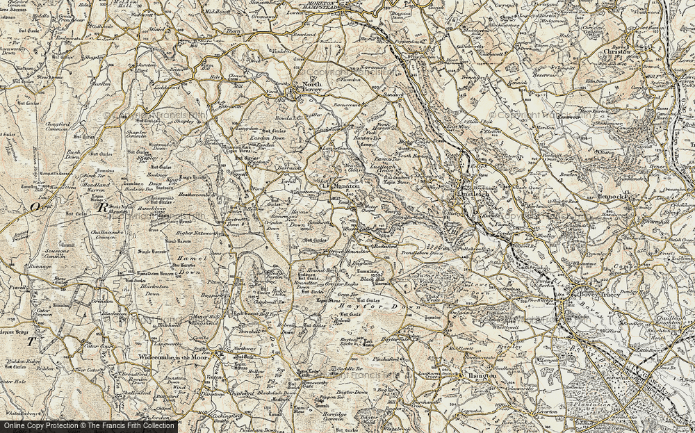 Old Map of Historic Map covering Leighon in 1899-1900