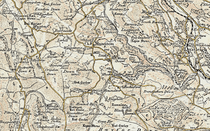 Old map of Leighon in 1899-1900