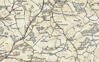 Old map of Woodstone in 1898-1901