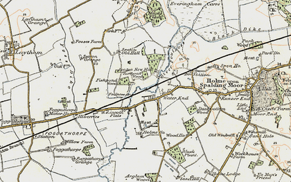 Old map of Woodlands in 1903