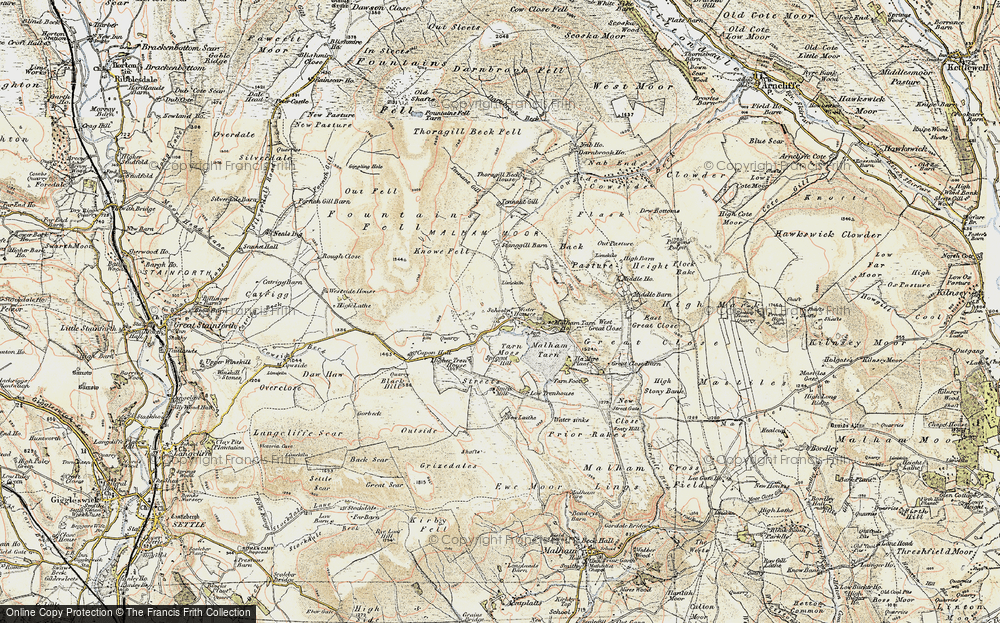 Old Map of Historic Map covering Back Pasture in 1903-1904