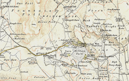 Old map of Back Pasture in 1903-1904