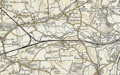 Old map of Water Orton in 1901-1902