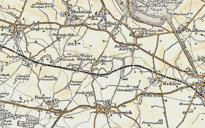 Old map of Bacon's Ho in 1898-1901