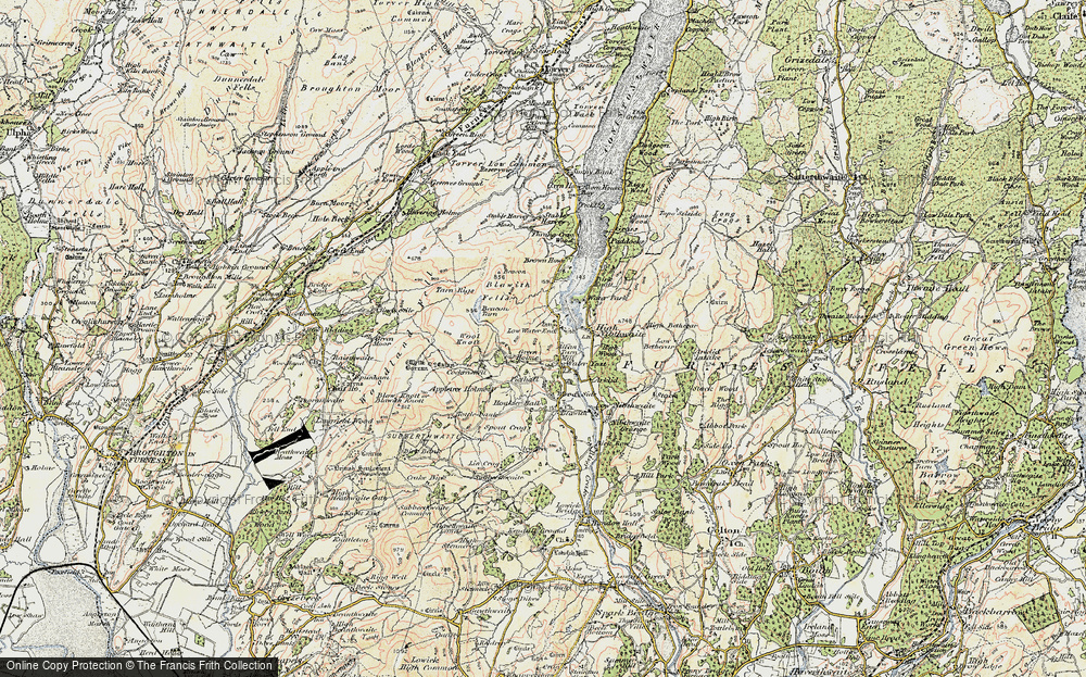 Old Map of Historic Map covering Wool Knott in 1903-1904