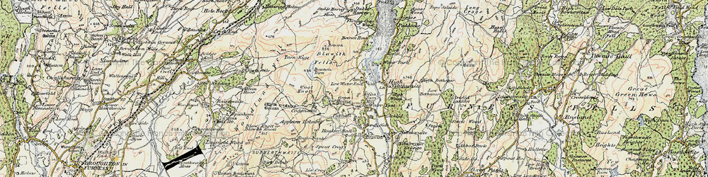 Old map of Wool Knott in 1903-1904