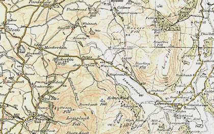 Old map of Askill Knott in 1901-1904