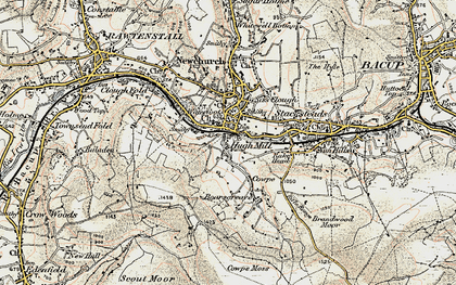 Old map of Waterfoot in 1903