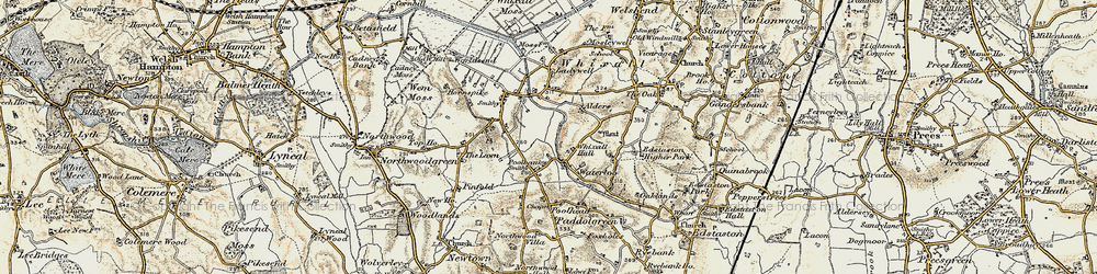 Old map of Lawn, The in 1902
