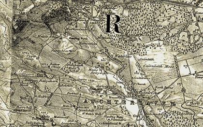 Old map of Witch's Stone in 1907-1908
