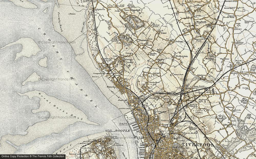 Waterloo Park Map Old Maps of Waterloo Park   Francis Frith Waterloo Park Map