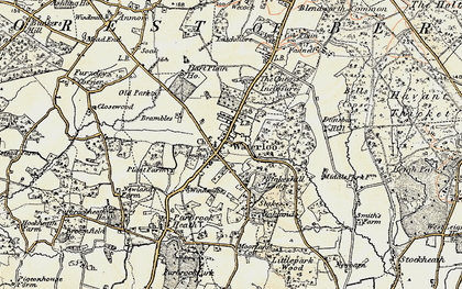 Old map of Waterlooville in 1897-1899