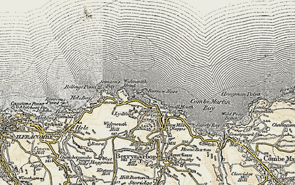 Old map of Widmouth in 1900