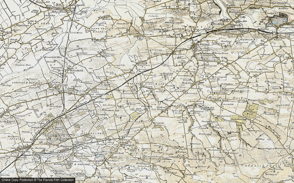 Old Map of Historic Map covering Woodlands in 1901-1904