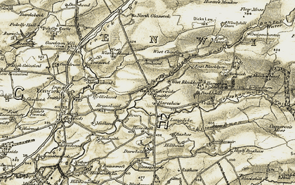 Old map of Airtnoch in 1905-1906