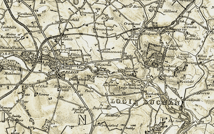 Old map of Balmacassie in 1909-1910
