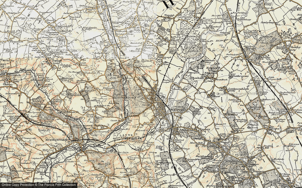 Old Map of Watford, 1897-1898 in 1897-1898