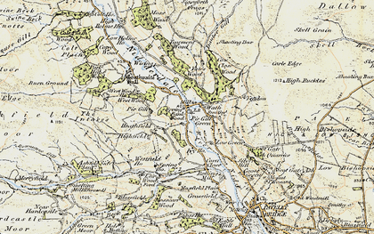Old map of Yeadon Crag in 1903-1904