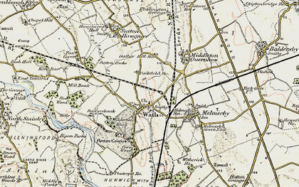 Old map of Wilderness Wood in 1903-1904