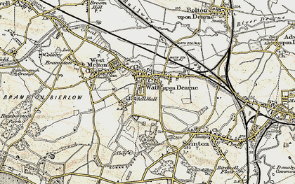 Old map of Wath Upon Dearne in 1903