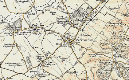Old map of Watlington in 1897-1899