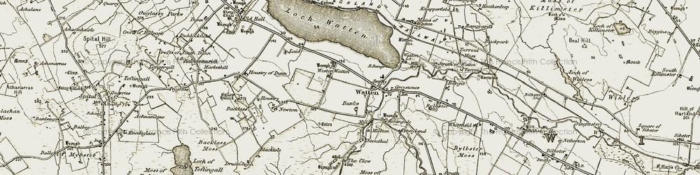 Old map of Achingale in 1911-1912