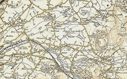 Old map of Bach yr Hilfry in 1903-1910