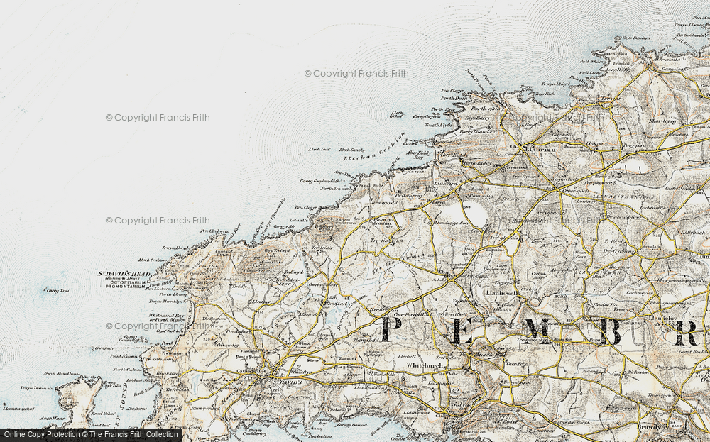 Old Map of Historic Map covering Aberdinas in 0-1912
