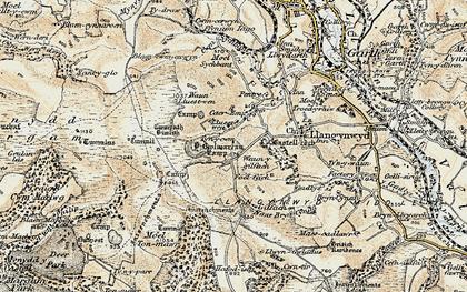 Old map of Y Bwlwarcau in 1900-1901
