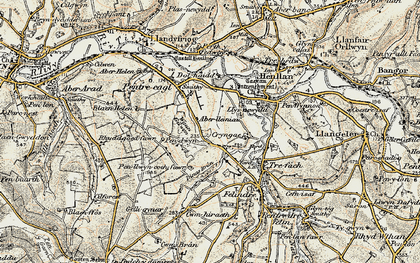 Old map of Aberlleinau in 1901