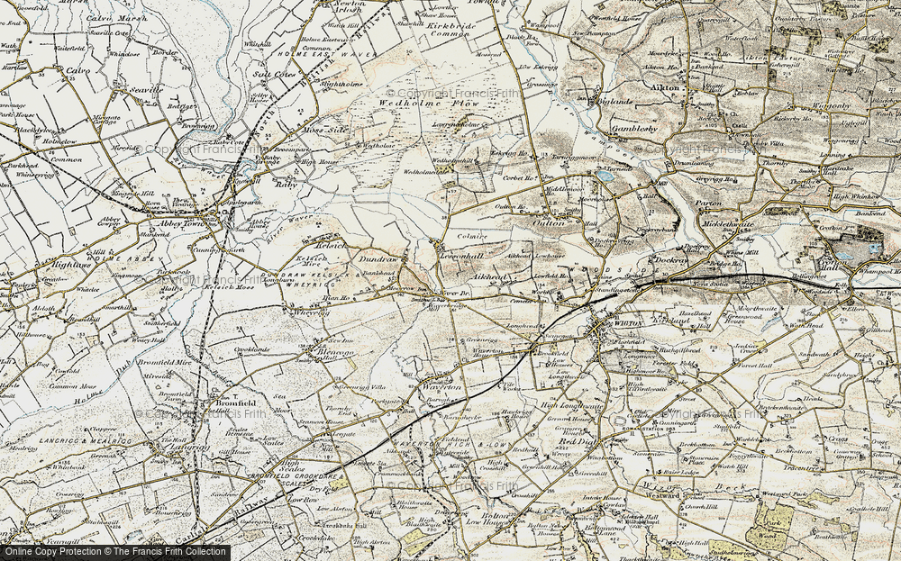 Old Map of Historic Map covering Aikhead in 1901-1904
