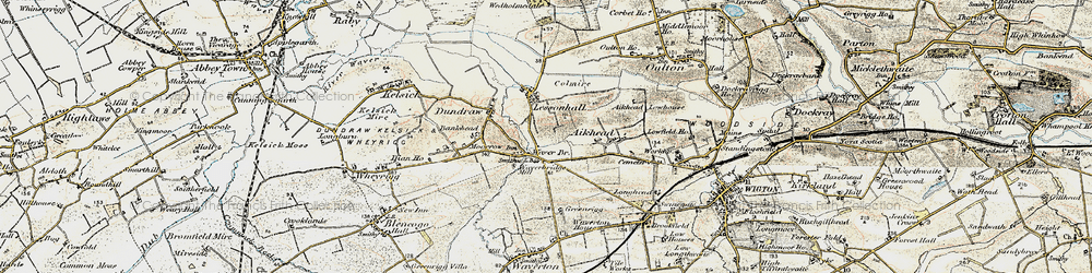 Old map of Aikhead in 1901-1904