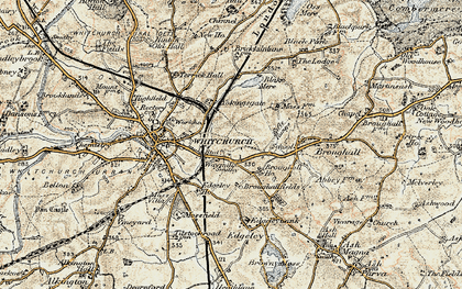 Old map of Yockings Gate in 1902
