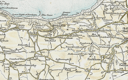 Old map of Limebury in 1900