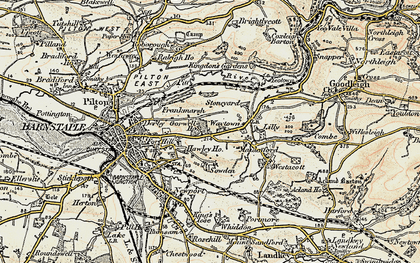 Old map of Lilly in 1900