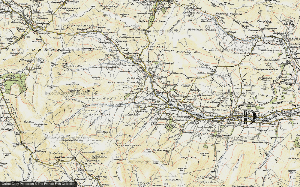Old Map of Wearhead, 1901-1904 in 1901-1904
